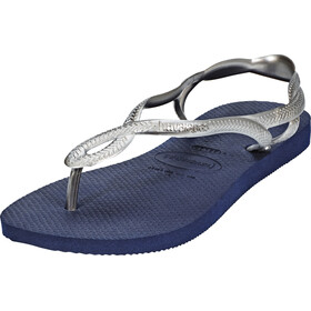 havaianas Luna Sandaler Damer blå/sølv